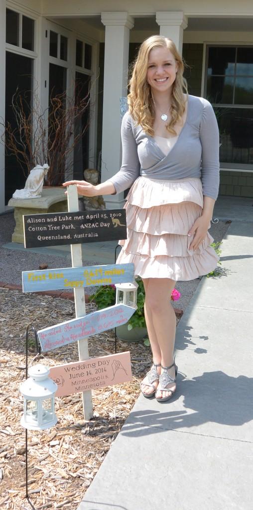 Ali and signpost | http://juliesaffrin.com