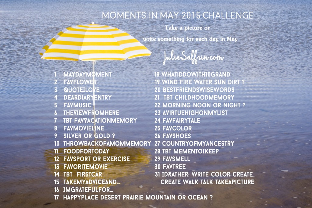 Moments in May 2015 Challenge | http://juliesaffrin.com