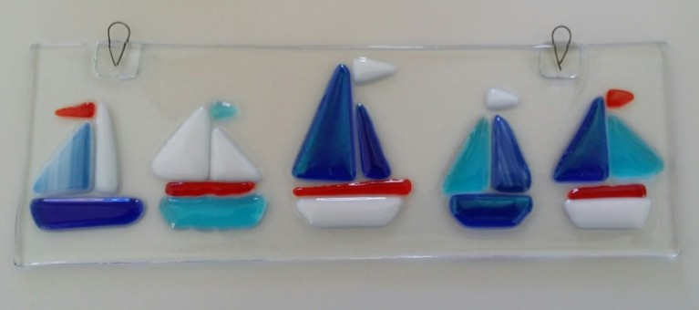 My finished sailboat glass fusion creation 800