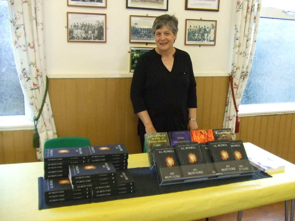 Sue at the book launch of An Iron Yoke
