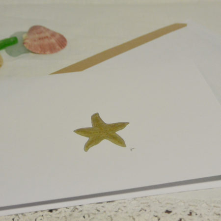 A little golden starfish blank greeting card | //juliesaffrin.com